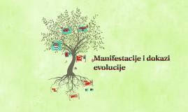 Manifestacije i dokazi evolucije