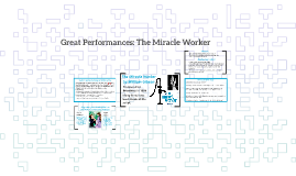 Great Performances: The Miracle Worker