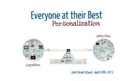 Personalization- Cognitive