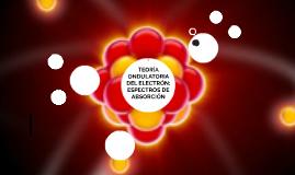 TEORÍA ONDULATORIA DEL ELECTRÓN: ESPECTROS DE ABSORCIÓN