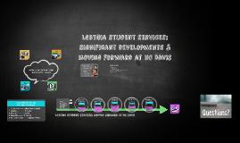 LGBTQIA Stu Services: Historical Overview & Movements Forward at UC Davis