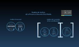 Modelo de Análisis de la PDD