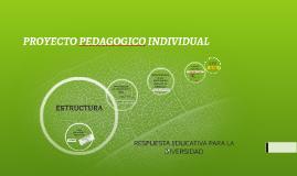 PROYECTO PEDAGOGICO INDIVIDUAL