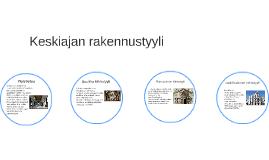 Keskiajan rakennustyyli