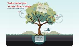 Copy of Reglas Básicas para un buen hábito de estudio.