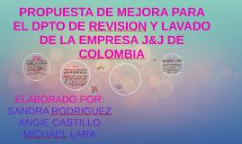 PROPUESTA DE MEJORA PARA EL DPTO DE REVISION Y LAVADO DE LA