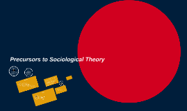 Precursors to Sociological Theory