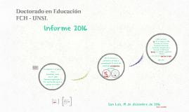 INFORME 2016 Doctorado en Educación