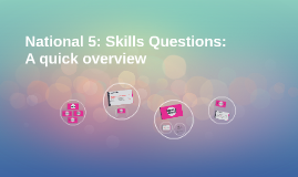 Copy of National 5: Skills Questions: