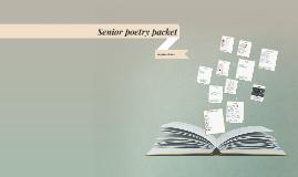 Senior poetry packet