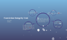 Conviction Integrity Unit