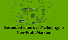 Besonderheiten des Marketing in Non-Profit Märkten