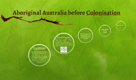 Aboriginal Australia before Colonisation