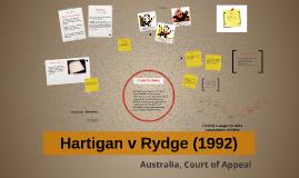 Hartigan v Rydge (1992)