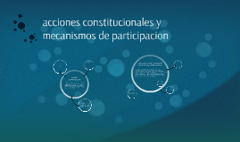 acciones constitucionales y mecanismos de participacion