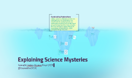 Copy of Middle School - Explaining Science Mysteries