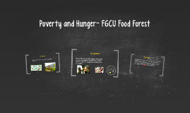 Poverty and Hunger- FGCU Food Forest