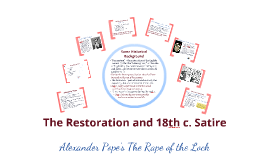 Alexander Pope's The Rape of the Lock (fall 2016)