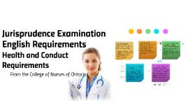 Jurisprudence Examination, English Requirements, Health and Conduct Requirements