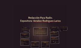 Redacción Para Radio.