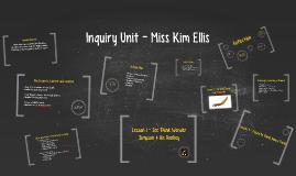 Inquiry Question - Kim Ellis