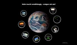 Solar macht unabhängig – steigen sie um
