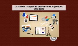 L'Académie Française du Gouverneur de Virginie 2013