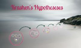 Copy of Krashen's Hypothesis Presentation