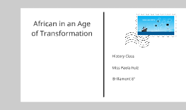 06 Africa in an age of transition