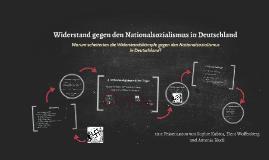 Widerstand gegen den Nationalsozialismus in Deutschland