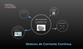 Copy of Motores de Corriente Continua
