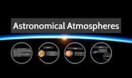 Astronomical Atmospheres