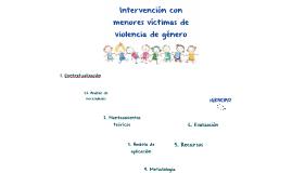 Intervención con menores víctimas de VG