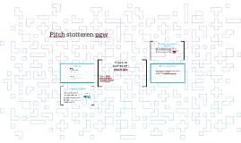 Pitch stotteren pgw