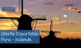Oferta Exportable Perú - Holanda . Tributos I