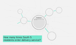 How many times South 5 residents order delivery service?