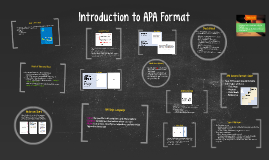 Introduction to APA Format