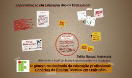 O gênero na docência da educação profissional: Cenários do Ensino Técnico em Osório/RS