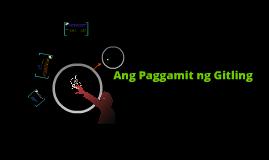 Copy of ang gamit ng gitling