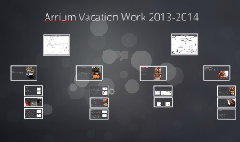 Copy of Arrium Vacation Work 2013-2014