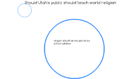 should world religions be taught in public schools