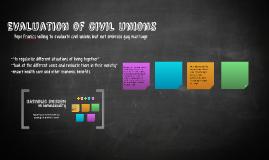 Evaluation of civil unions