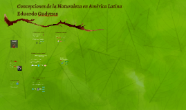 Concepciones de la Naturaleza en América Latina