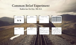 Common Belief Experiment