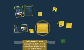 La importancia de las estrategias didácticas en el aprendiza