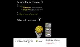 Impact Measurement - A conceptual framework