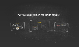 Marriage and Family in the Roman Republic