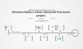 Timeline Prezumé by Christina Baker