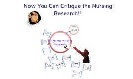 Research article critique nursing