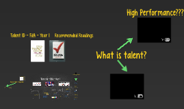 Talent ID Programmes - Links to Assignment 20.1